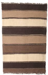 Kelim Matta 80X123 Äkta Orientalisk Handvävd Brun/Mörkbrun/Beige (Ull, Persien/Iran)