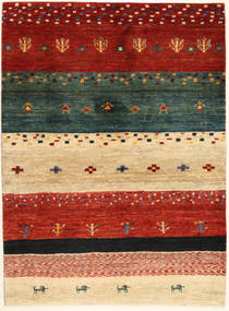 Loribaft Persisk Matta 102X140 Äkta Modern Handknuten Röd/Mörkgrön (Ull, Persien/Iran)