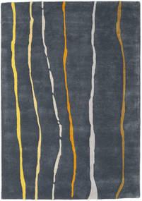 Flaws Handtufted - Grå Matta 140X200 Modern Mörkgrå/Mörkblå (Ull, Indien)