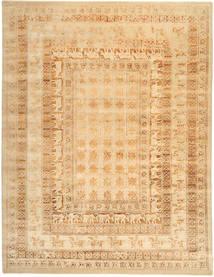Roma Moderna Collection Matta 305X397 Äkta Modern Handknuten Mörkbeige/Beige Stor ( Indien)