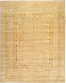 Roma Moderna Collection Matta 304X393 Äkta Modern Handknuten Mörkbeige/Ljusbrun Stor ( Indien)