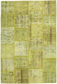 Patchwork Matta 159X234 Äkta Modern Handknuten Olivgrön/Gul (Ull, Turkiet)