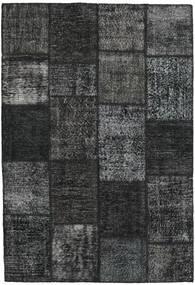 Patchwork Matta 159X231 Äkta Modern Handknuten Mörkgrön/Mörkgrå (Ull, Turkiet)