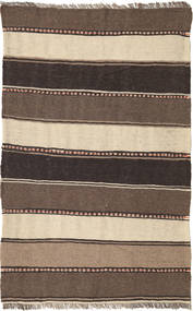 Kelim Matta 80X128 Äkta Orientalisk Handvävd Mörkbrun/Brun/Beige (Ull, Persien/Iran)