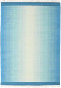 Ikat - Blå/Turkos Matta 210X290 Äkta Modern Handvävd Ljusblå/Turkosblå (Ull, Indien)