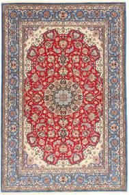 Isfahan Silkesvarp Matta 152X227 Äkta Orientalisk Handknuten Ljuslila/Brun (Ull/Silke, Persien/Iran)