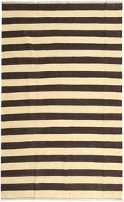 Kelim Matta 188X300 Äkta Orientalisk Handvävd Beige/Mörkbrun/Mörkbeige/Mörkgrå (Ull, Persien/Iran)