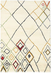 Berber Indisk - Off-Vit/Multi Matta 160X230 Äkta Modern Handknuten Beige/Vit/Cremefärgad (Ull, Indien)