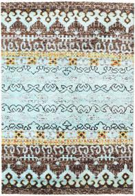 Quito - L. Blå Matta 160X230 Äkta Modern Handknuten Ljusgrå/Ljusblå (Silke, Indien)