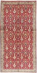 Najafabad Matta 145X297 Äkta Orientalisk Handknuten Hallmatta Mörkröd/Ljusgrå (Ull, Persien/Iran)