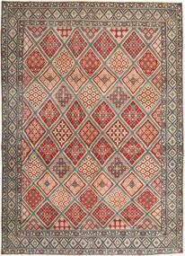 Nain Patina Matta 287X395 Äkta Orientalisk Handknuten Ljusbrun/Ljusgrå Stor (Ull/Silke, Persien/Iran)