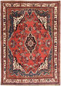 Hamadan Patina Matta 207X297 Äkta Orientalisk Handknuten Mörkbrun/Mörkröd (Ull, Persien/Iran)