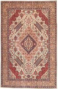Tabriz Patina Matta 195X300 Äkta Orientalisk Handknuten Ljusbrun/Ljusrosa (Ull, Persien/Iran)
