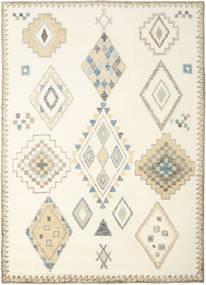 Berber Indisk - Naturvit/Beige Matta 240X340 Äkta Modern Handknuten Beige/Vit/Cremefärgad (Ull, Indien)