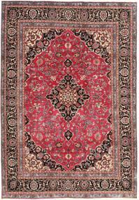 Mashad Patina Matta 195X278 Äkta Orientalisk Handknuten Mörkröd/Roströd (Ull, Persien/Iran)