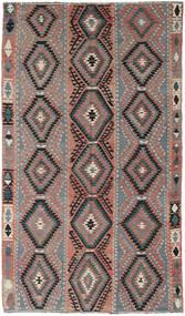 Kelim Turkisk Matta 160X267 Äkta Orientalisk Handvävd Mörkgrå/Mörkgrön (Ull, Turkiet)
