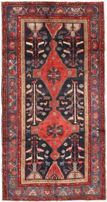 Koliai Matta 150X290 Äkta Orientalisk Handknuten Hallmatta Mörkröd/Svart (Ull, Persien/Iran)