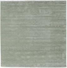 Handloom Fringes - Soft Teal Matta 250X250 Modern Kvadratisk Ljusgrön Stor (Ull, Indien)