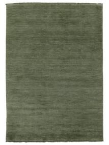 Handloom Fringes - Skogsgrön Matta 160X230 Modern Mörkgrön/Mörkgrön (Ull, Indien)