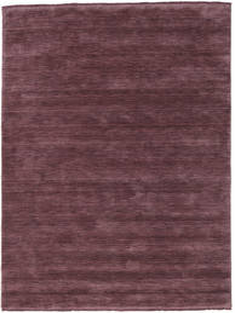 Handloom Fringes - Vinröd Matta 160X230 Modern Mörklila/Mörkbrun (Ull, Indien)