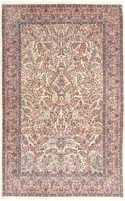 Kerman Lavar Matta 213X315 Äkta Orientalisk Handknuten Beige/Ljusgrå (Ull, Persien/Iran)