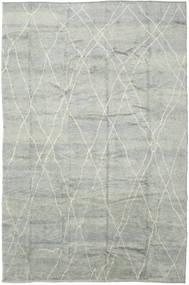 Handknotted Berber Shaggy Matta 292X432 Äkta Modern Handknuten Ljusgrå Stor (Ull, Turkiet)