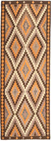 Kelim Fars Matta 177X482 Äkta Orientalisk Handvävd Hallmatta Brun/Ljusbrun (Ull, Persien/Iran)
