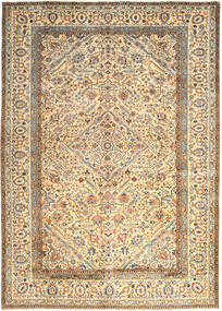 Keshan Matta 296X410 Äkta Orientalisk Handknuten Beige/Mörkbeige Stor (Ull, Persien/Iran)