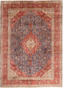 Keshan Matta 297X410 Äkta Orientalisk Handknuten Mörkröd/Mörkbrun Stor (Ull, Persien/Iran)