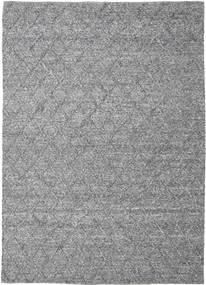 Rut - Mörkgrå Melerad Matta 250X350 Äkta Modern Handvävd Ljusgrå/Mörkbrun Stor (Ull, Indien)