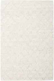 Rut - Isgrå Melerad Matta 200X300 Äkta Modern Handvävd Vit/Cremefärgad/Mörkbeige/Beige (Ull, Indien)