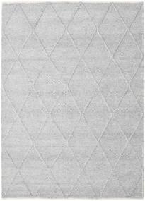Svea - Silvergrå Matta 160X230 Äkta Modern Handvävd Ljusgrå/Vit/Cremefärgad (Ull, Indien)