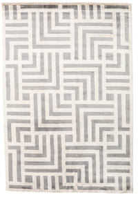 Maze Matta 170X240 Äkta Modern Handknuten Ljusgrå/Beige ( Indien)