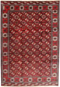 Turkaman Matta 235X348 Äkta Orientalisk Handknuten Mörkröd/Brun (Ull, Persien/Iran)