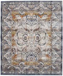 Minna - Guld Matta 244X304 Modern Ljusgrå/Mörkgrå ( Turkiet)