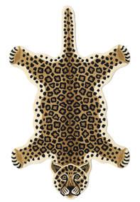 Leopard - Beige Matta 100X160 Modern Svart/Ljusbrun/Beige (Ull, Indien)