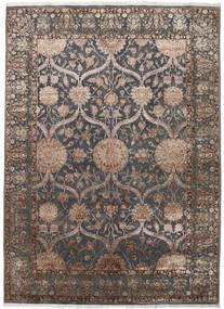Keshan Indisk Ull/Viscos Matta 248X342 Äkta Orientalisk Handknuten Mörkgrå/Ljusgrå (Ull/Silke, Indien)