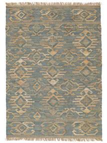 Kalahari Jute Matta 200X300 Äkta Modern Handvävd Ljusgrå/Turkosblå ( Indien)