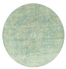 Maharani - Grön Matta Ø 150 Modern Rund Pastellgrön ( Turkiet)