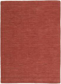 Kelim Loom - Rost Matta 160X230 Äkta Modern Handvävd Mörkröd (Ull, Indien)