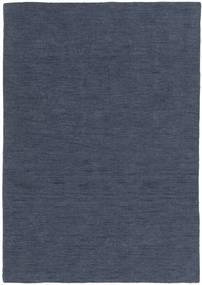 Kelim Loom - Denim Blå Matta 160X230 Äkta Modern Handvävd Blå (Ull, Indien)