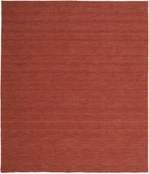 Kelim Loom - Rost Matta 250X300 Äkta Modern Handvävd Mörkröd Stor (Ull, Indien)