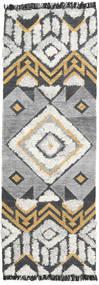 Decco Matta 80X250 Äkta Modern Handvävd Hallmatta Ljusgrå/Mörkgrå (Ull, Indien)