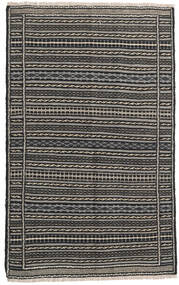 Kelim Persisk Matta 100X160 Äkta Orientalisk Handvävd Svart/Mörkgrå/Ljusgrå (Ull, Persien/Iran)