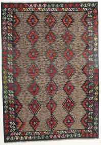 Kelim Afghan Old Style Matta 175X250 Äkta Orientalisk Handvävd Mörkgrå/Mörkröd (Ull, Afghanistan)