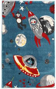 Astronauts Matta 100X160 Modern Mörkblå/Blå ( Turkiet)