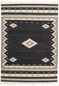 Tribal - Svart Matta 160X230 Äkta Modern Handvävd Svart/Beige (Ull, Indien)