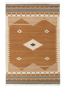 Tribal - Senap Matta 160X230 Äkta Modern Handvävd Brun/Ljusbrun (Ull, Indien)
