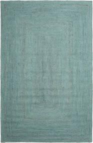 Utomhusmatta Frida Color - Turkos Matta 200X300 Äkta Modern Handvävd Turkosblå/Turkosblå/Pastellgrön (Jutematta Indien)