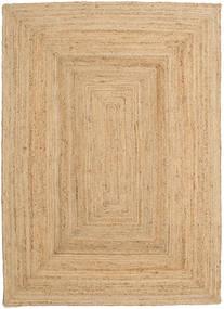 Utomhusmatta Frida - Natural Matta 160X230 Äkta Modern Handvävd Mörkbeige/Beige (Jutematta Indien)